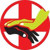 Logo de soin illustration stock
