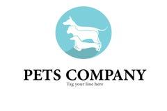 Logo de soin de chiens Photographie stock libre de droits