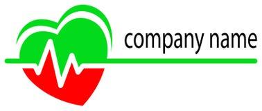 Logo de soin de coeur Images libres de droits