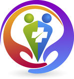 Logo de soin de couples Photo stock