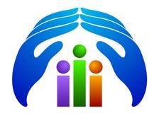 Logo de soin de gens Photos stock