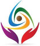Logo de soin de gens illustration de vecteur