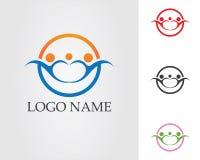 Logo de soin de personnes de la Communauté et calibre de symboles Image libre de droits