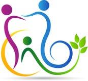 Logo de soins dentaires de famille illustration stock