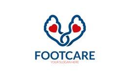 Logo de soins du pied illustration de vecteur