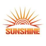Logo de soleil illustration de vecteur