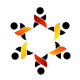 Logo de soutien de travail d'équipe Images libres de droits