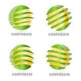 Logo de sphère d'entreprise constituée en société Photo libre de droits