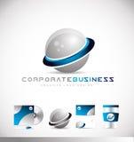 Logo de sphère de l'entreprise constituée en société 3d Photo stock