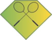 Logo de sport de badminton Images libres de droits