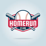 Logo de sport d'insigne de base-ball Illustration Stock