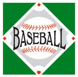 Logo de sport de base-ball illustration stock