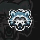 Logo de sport du raton laveur e illustration de vecteur