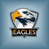 Logo de sports professionnels, calibre d'emblème avec l'image du faucon, aigle, faucon illustration libre de droits