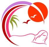 Logo de station thermale Photos libres de droits