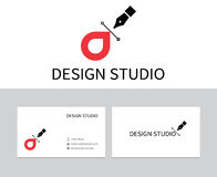 Logo de studio de conception Photographie stock