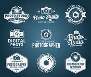Logo de studio de photographie, labels, icônes et éléments de conception Photo stock