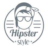 Logo de style de hippie, style simple Photo stock