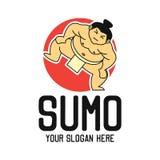 Logo de sumo avec l'espace des textes pour votre slogan/slogan illustration de vecteur