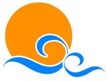 Logo de Sun illustration libre de droits