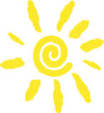 Logo de Sun illustration de vecteur