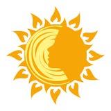 Logo de Sun illustration de vecteur