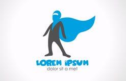 Logo de superhéros. Graphisme abstrait de caractère Photos libres de droits