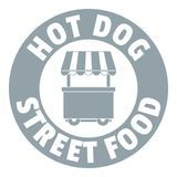 Logo de support de hot-dog, style gris simple Photographie stock
