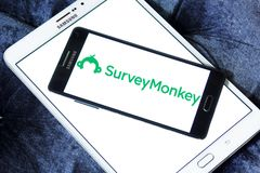 Logo de SurveyMonkey images stock