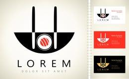 Logo de sushi Photos stock