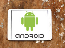 Logo de système d'exploitation d'Android Photographie stock libre de droits