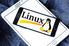 Logo de système d'exploitation de Linux Photographie stock