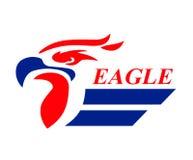 Logo 6 de tête d'Eagle illustration stock