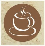 Logo de tasse de café Photo stock