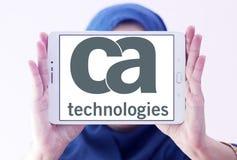 Logo de technologies de CA Photographie stock