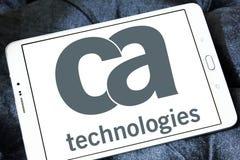 Logo de technologies de CA Image libre de droits