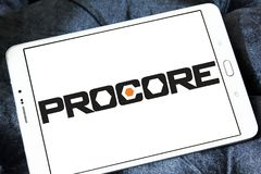 Logo de technologies de Procore Photos libres de droits