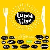 Logo de temps de déjeuner illustration libre de droits