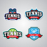 Logo de tennis, insigne, calibre de conception Images stock