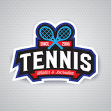 Logo de tennis, insigne, calibre de conception Photos libres de droits