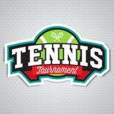 Logo de tennis, insigne, calibre de conception Photographie stock