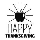 Logo de thanksgiving d'Apple, style simple illustration de vecteur