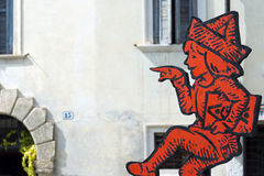 Logo de Tocati - jeux de rue à Vérone Images stock