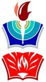 Logo de torche et de livre Photo stock