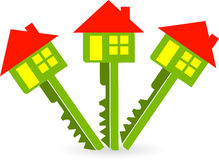 Logo de touche HOME Image libre de droits