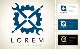 Logo de tournevis et de clé Photo libre de droits
