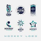 Logo de tournoi de hockey sur glace illustration stock