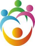 Logo de travail d'équipe Photo libre de droits