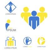 Logo de travail d'équipe Photographie stock libre de droits
