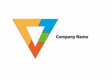 Logo de triangle de couleur images stock